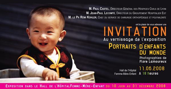 Carton d'invitation de l'exposition de Flore Lamoureux / HFME